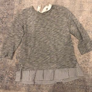 Anthropologie 3/4 embellished sweater